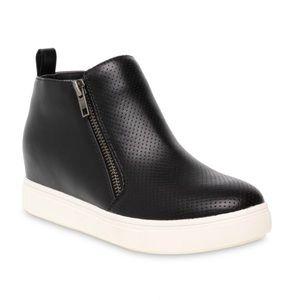 Time and Tru Black  Sneaker Wedge